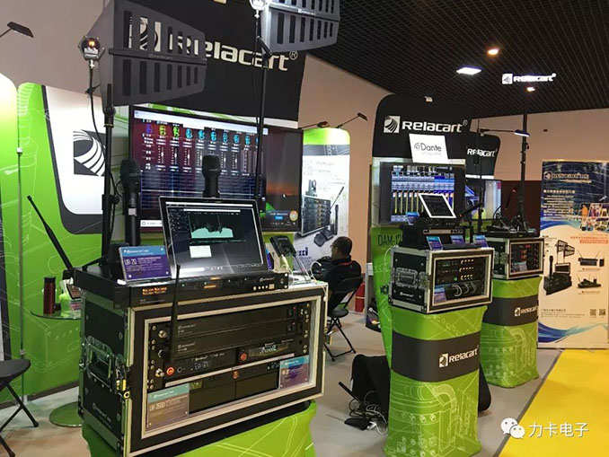2019 Relacart with new Dante conference system, professional wireless performance system de
