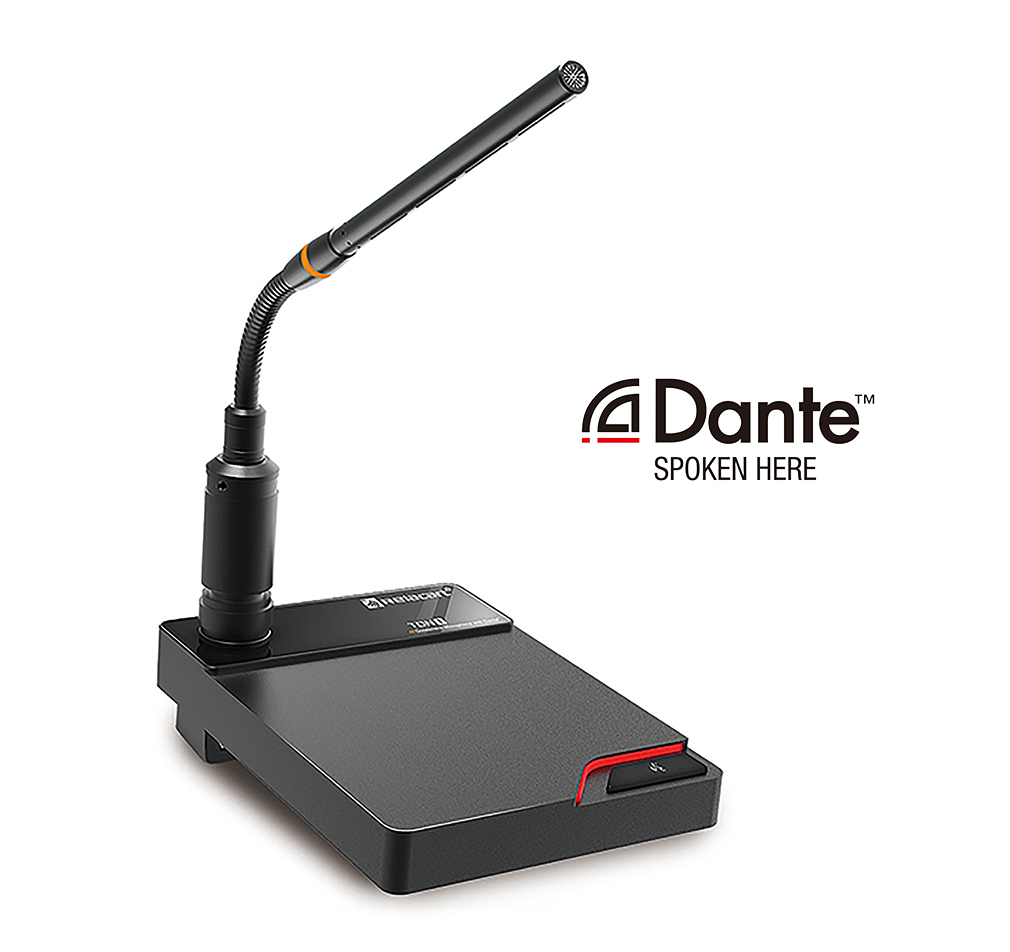 TDN1 Microphone Desk Stand with Dante Network Output