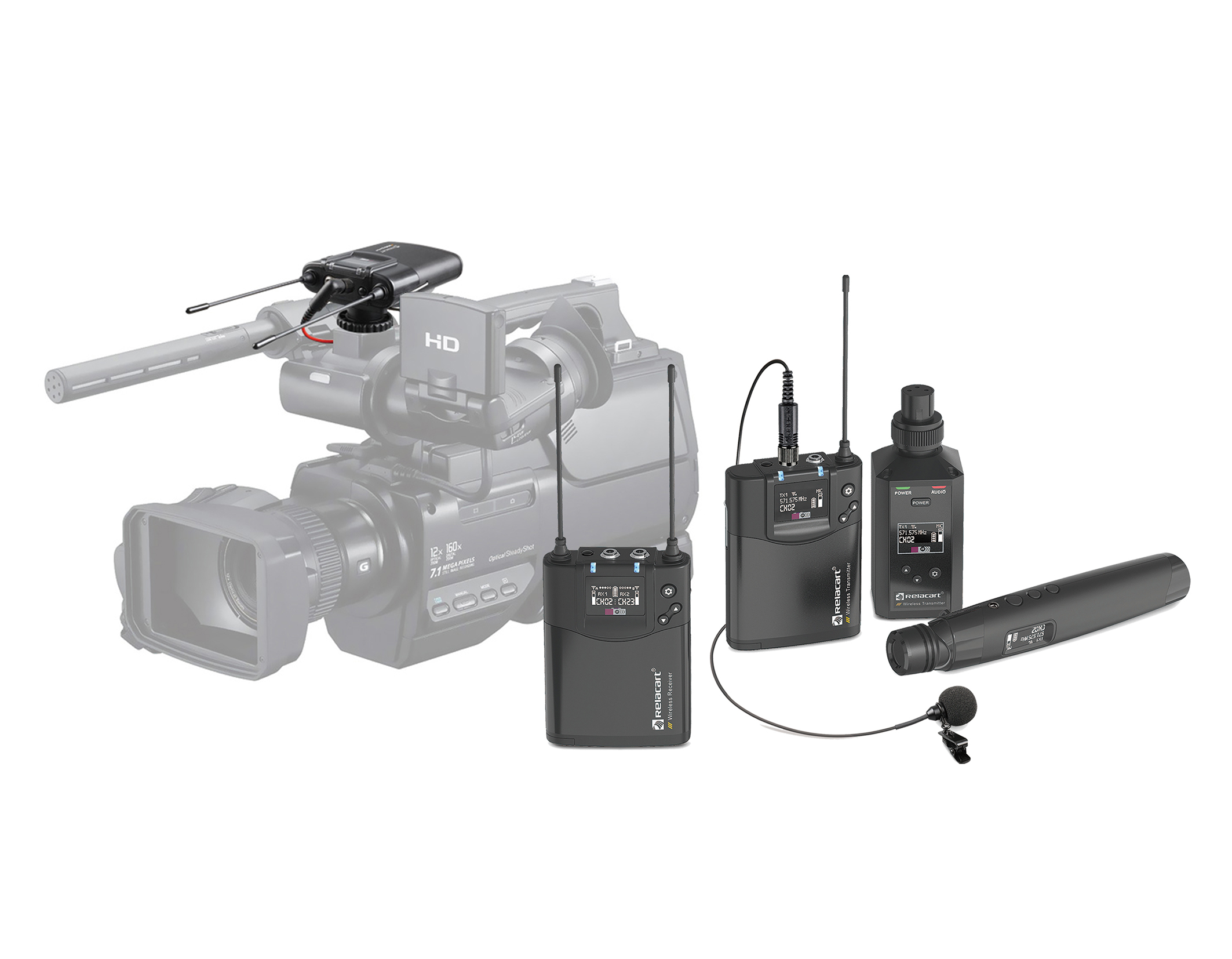 CR-2 Dual channels wireless microphone system