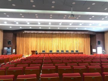 Relacart WDC-900 2.4G Digital Wireless Conference Discussion System is used in a city's multifunctional conference hall