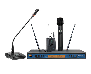 ER-5700 UHF Dual Channel Wireless Microphone System