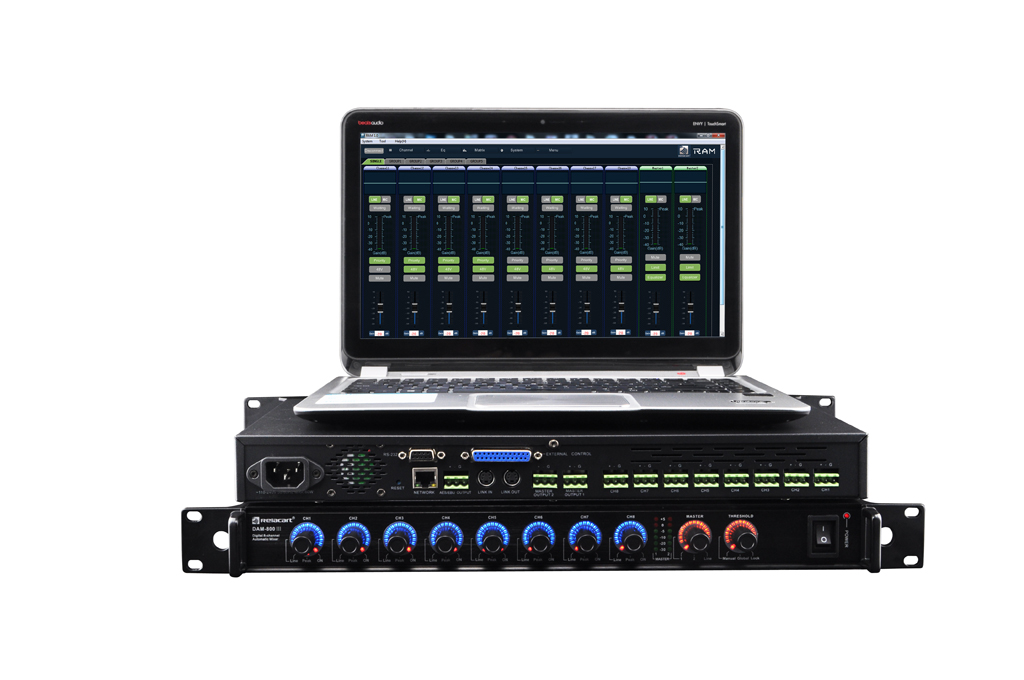 DAM-800 Digital Eight-channel Automatic Mixer